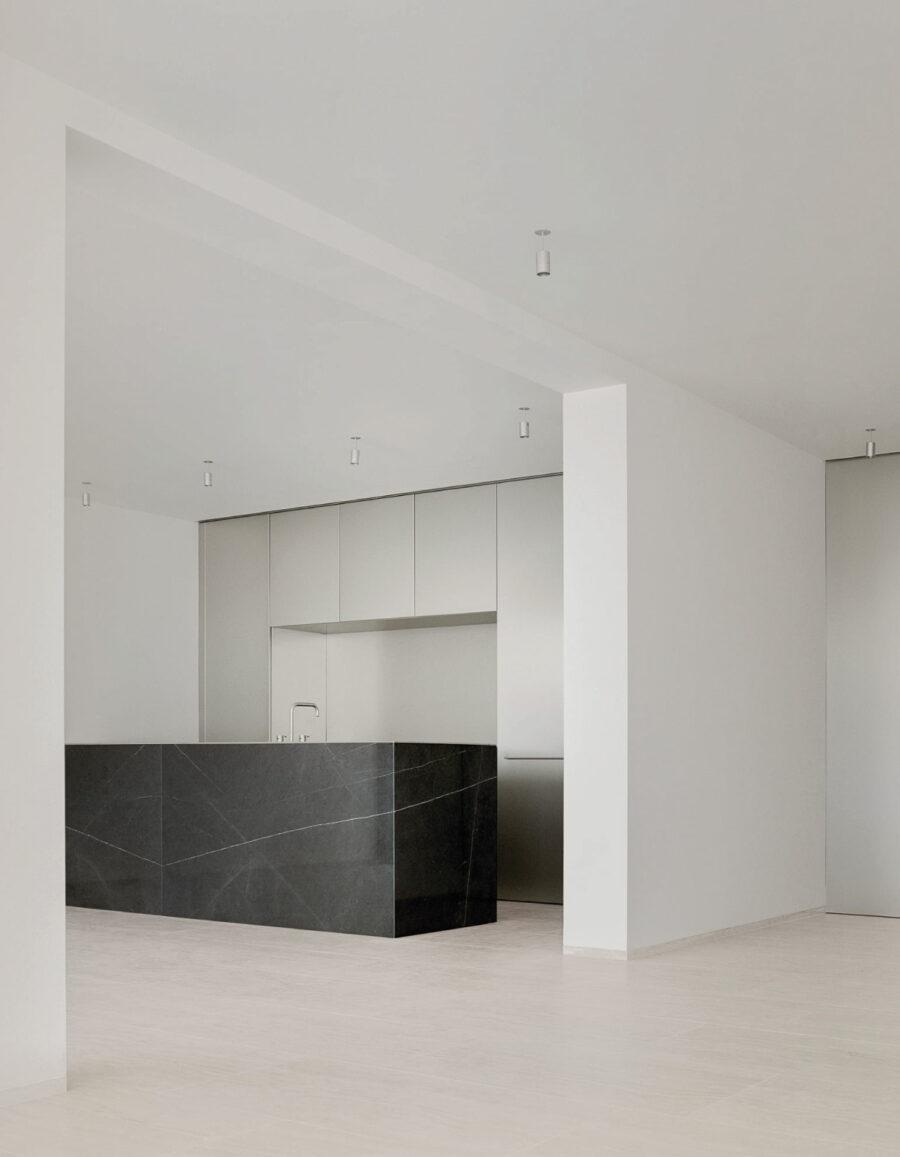 cocina minimalista pedrazzini architetti rivalago