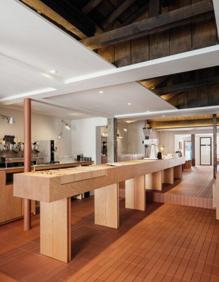mostrador cafeteria minimalista pont studio stof
