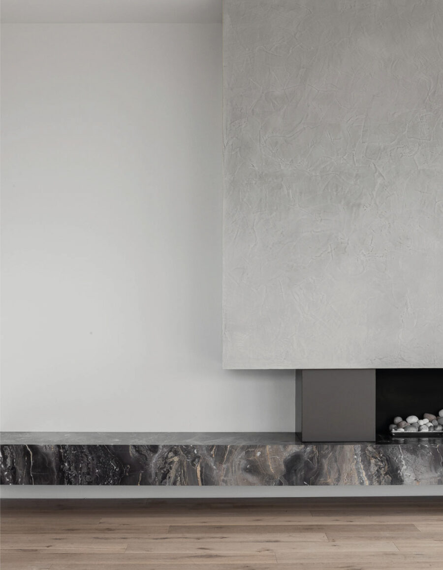 chimenea minimalista malvern residencia Paul Conrad architects