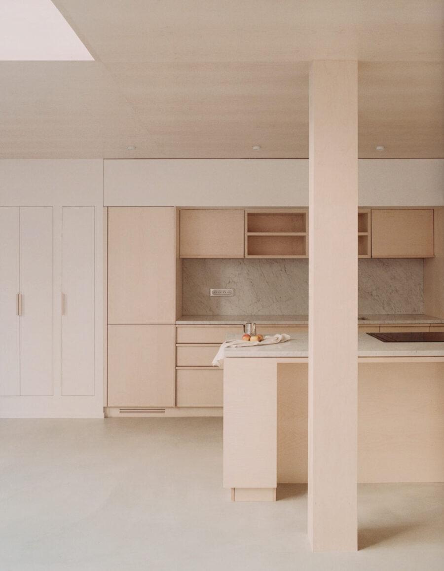 cocina minimalista avenue jean moulin atelier nea