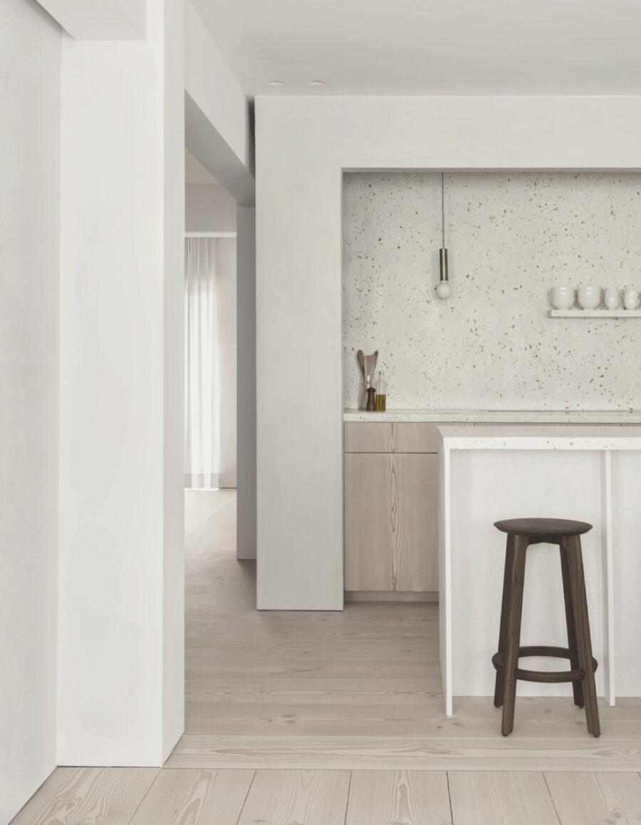 cocina minimalista Lokeren apartment batten hylebos architecten