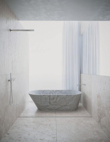 baño minimalista entrevista Balzar Arquitectos