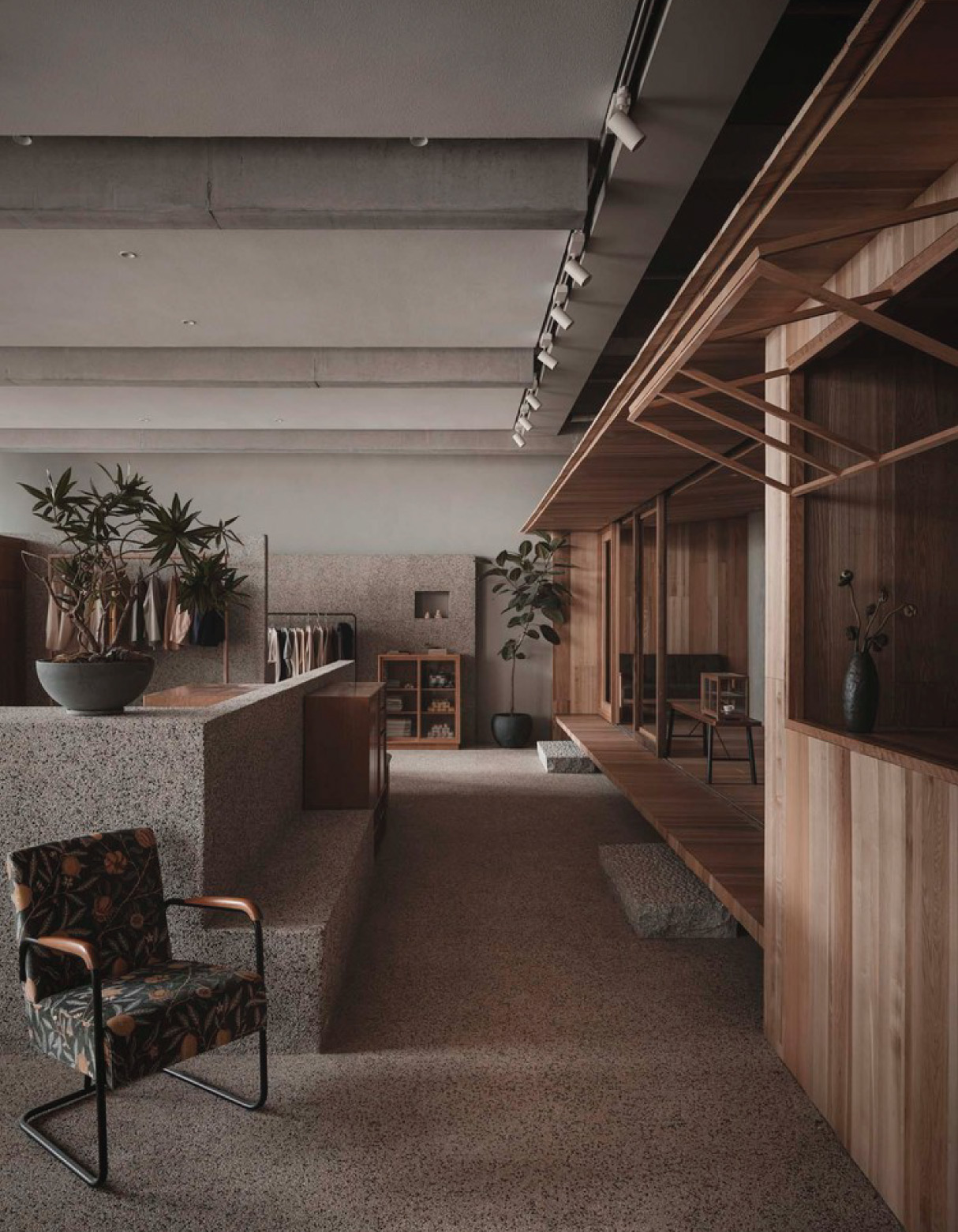 restaurante minimalista lost and found hangzhou store blue architecture studio